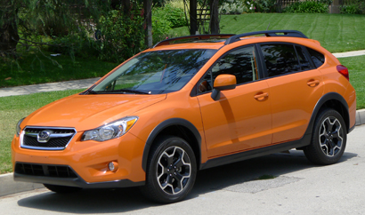 A three-quarter front view of the 2013 Subaru XV Crosstrek 2.0i Limited