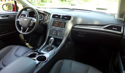 2013 Ford Fusion Titanium Awd The Interior Of The 2013