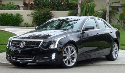 A three-quarter front view of a 2013 Cadillac ATS 2.0T Premium Collection