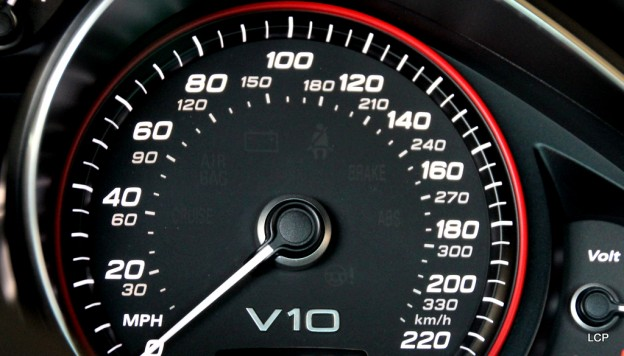 2014 Audi R8 V10 Plus Coupe Speedometer Of The Audi R8