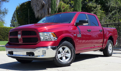 A three-quarter front view of the 2013 Ram 1500 Outdoorsman Crew Cab 4x4