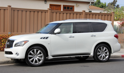 A side view of the 2014 Infiniti QX80