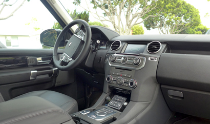 The Interior Of The 2014 Land Rover LR4