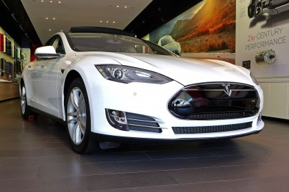 Tesla Model S front three quarter view