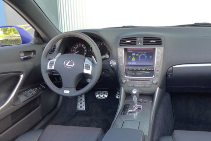 The IS350 C's interior is luxurious but somewhat bland