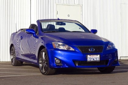 Lexus is350 c top down front