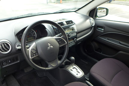 Mitsubishi Mirage int and wheel