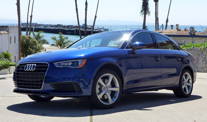 A three-quarter front view of the 2015 Audi A3 2.0T