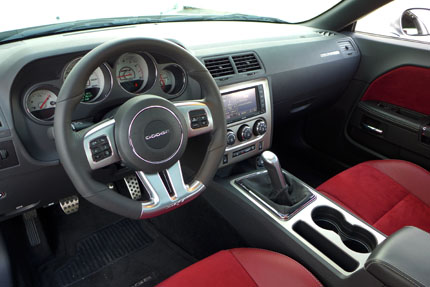 Dodge Challenger SRT wheel and dashboard