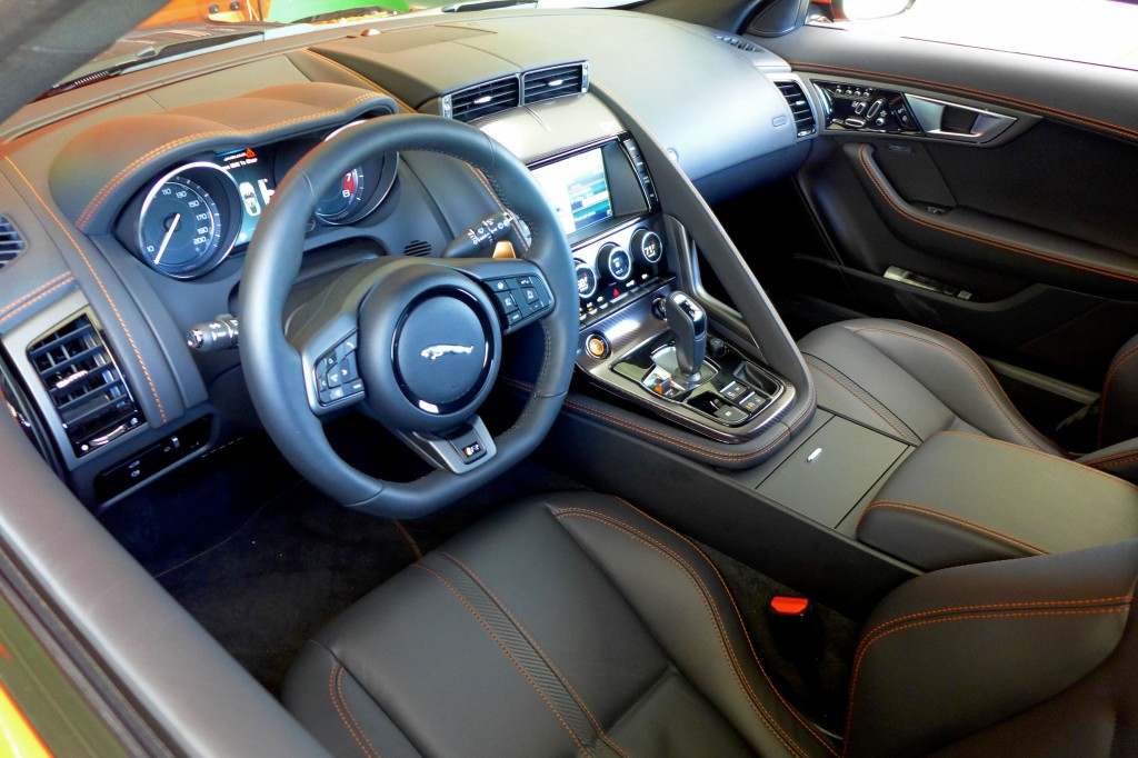 2015 Jaguar F-Type R Coupe interior