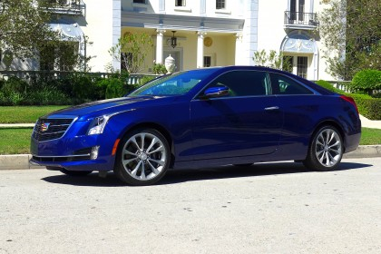 2015 Cadillac ATS Coupe 2.0T front three quarter view