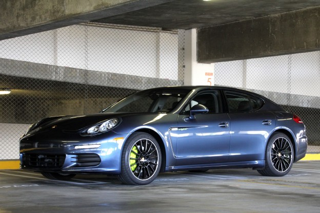 A three-quarter front view of a 2015 Porsche Panamera S E-Hybrid