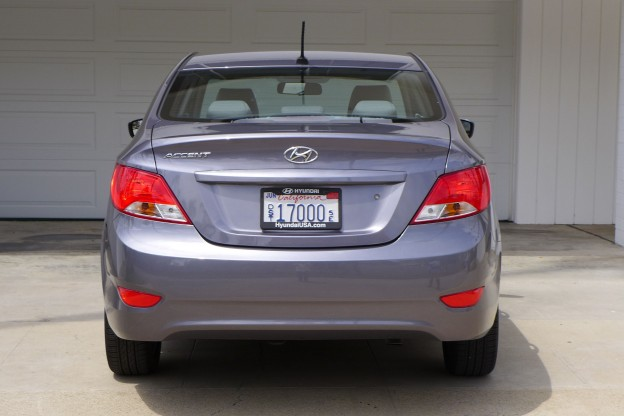 Used Hyundai Accent >> 2015 Hyundai Accent GLS   2015 Accent rear view - Automobiles   Gayot