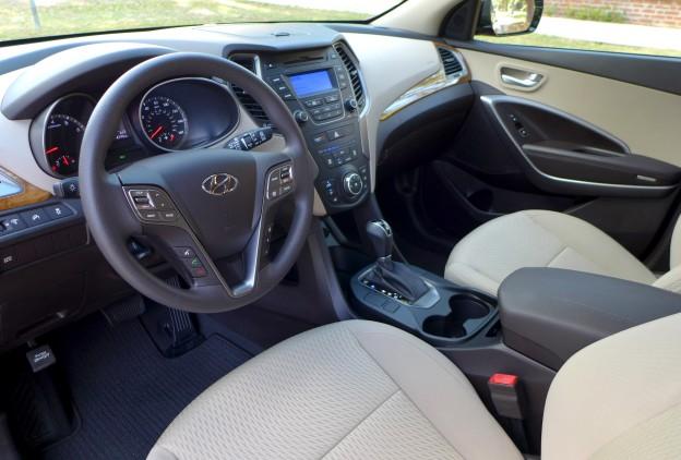 2016 Hyundai Santa Fe Sport Fwd 2 4 Beige Interior Of The 2016 Hyundai Santa Fe Sport Fwd 2 4