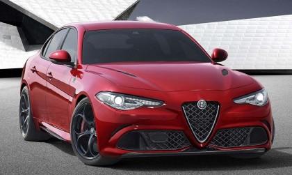 A three-quarter front view of the 2017 Alfa Romeo Giulia