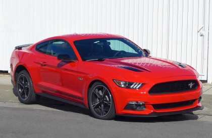 A three-quarter front view of the 2016 Ford Mustang GT California Special