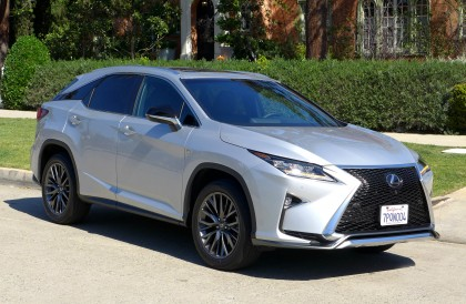 A three-quarter front view of a 2016 Lexus RX 350